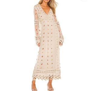 House of Harlow 1960 Revolve Ezra Embroidered Maxi